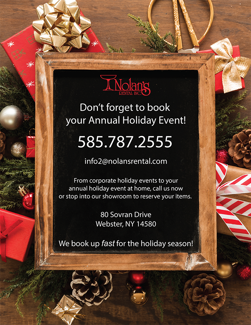 Don't forget to book your annual holiday event!