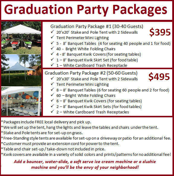 Graduation Party Packages