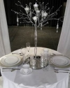 30 In. Tall Silver Tree Candle Holder