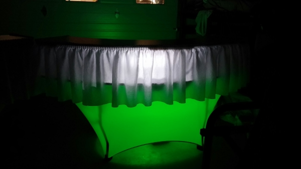 Add LED Uplighting to our Serpentine Bar