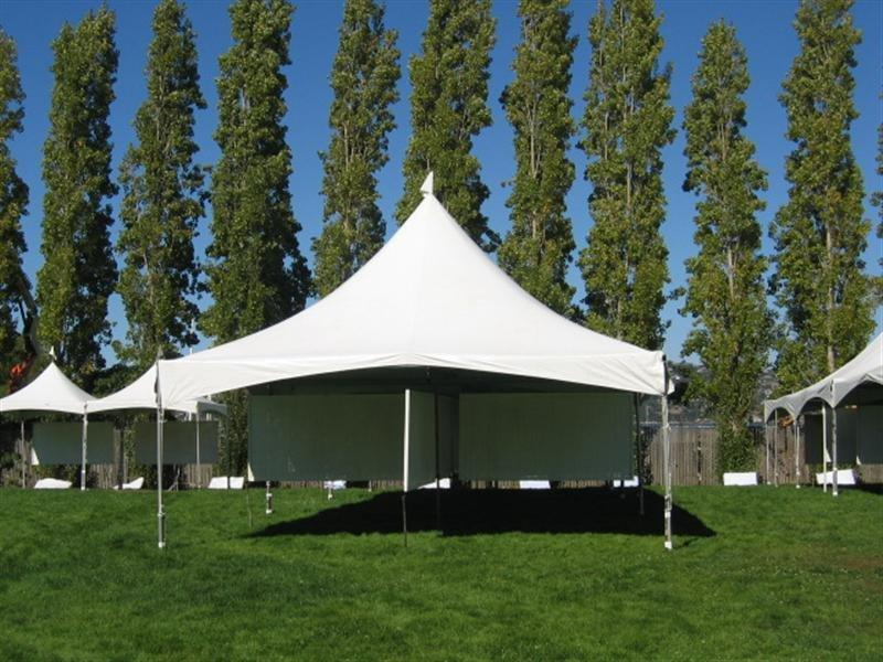 25x25 White High Peak Free-Standing Tent