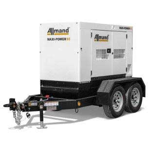 45KW Tow Behind Generator with Fuel