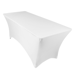 6' White Spandex Table Cover