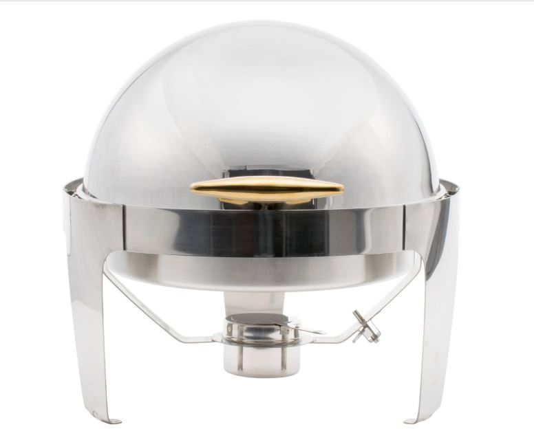 7 Qt. Roll Top Chafer w/ food pan