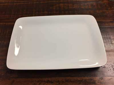 Large White China Platter/ Plate