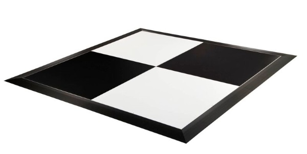 Black & White 4'x4' Dance Floor