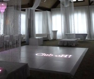 White 4'x4' Dance Floor