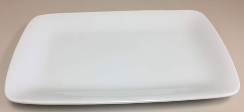 Medium White China Platter/ Rectangle Plate