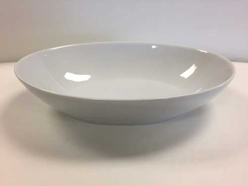 White Oval Serving Bowl