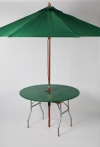 48 in. Table w/Green Umbrella and Kwik Cover