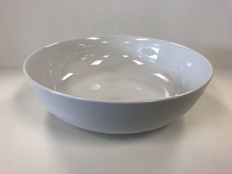 White Round Serving Bowl