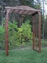 Rustic Wood Archway