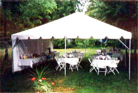 20 x 20 White Free-Standing Tent & Free-Standing Tents Rental | Nolanu0027s Tent and Party Rental ...