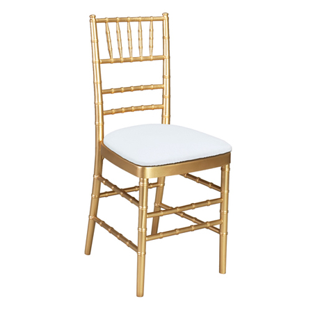 Gold Chiavari Chair with ivory cushion seat