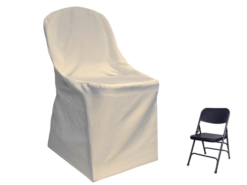 Polyester Folding Chair Cover for Rent