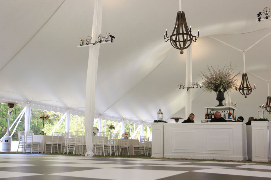 Rent Benches For Wedding Part - 42: Vinyl Center Pole Covers
