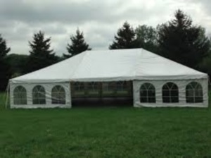 15 x 45 White Free-Standing Tent Rental