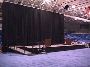 16' High Black Velour Drape Rentals