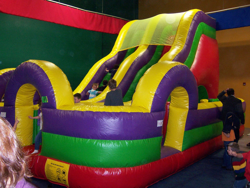 18' Slide w/ Obstacle Course Rentals