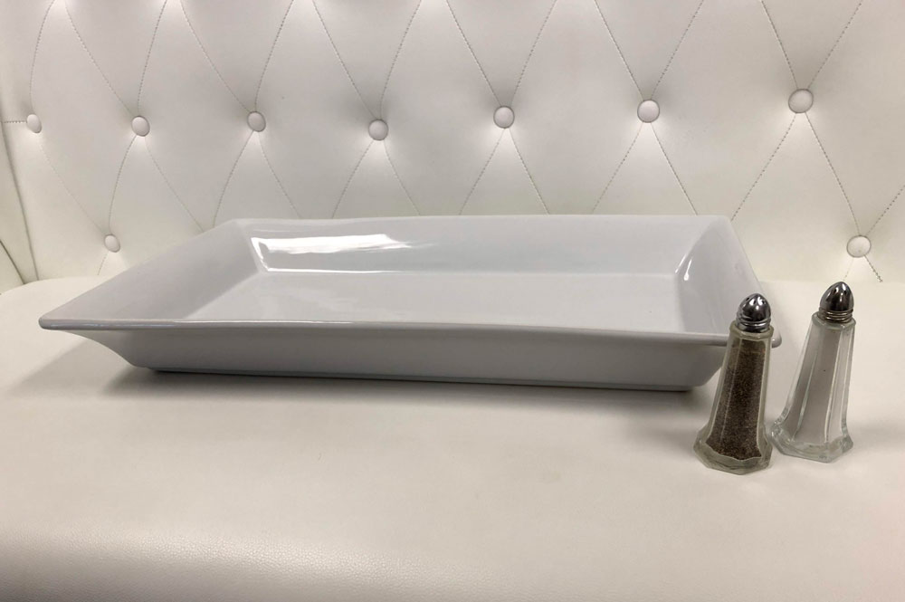 Rent White Ceramic Serving Platter