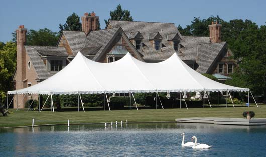 40 x 80 White Stake and Pole Tent Rentals