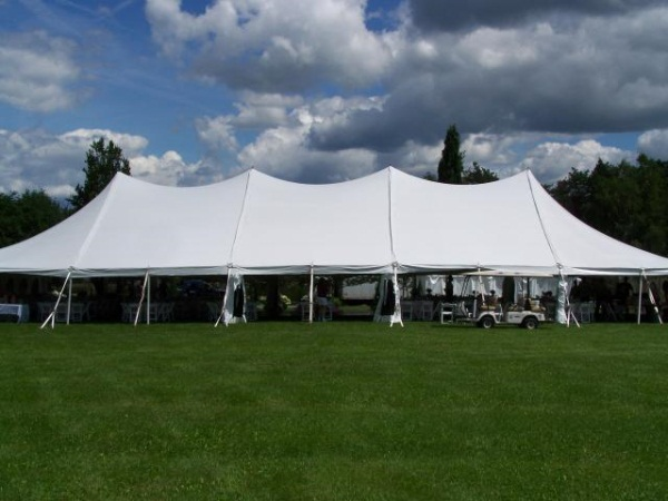 40 x 100 White Stake and Pole Tent Rental