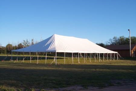 Rent 40 x 100 White Stake and Pole Tent