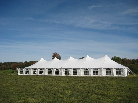 Rent 40 x 120 White Stake and Pole Tent