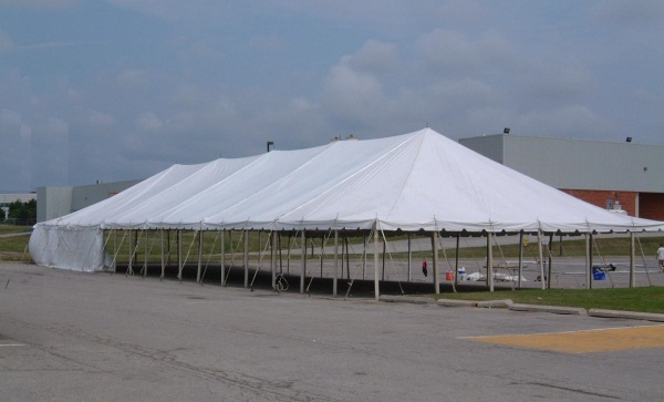 40 x 120 White Stake and Pole Tent Rental