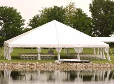 40 x 40 White Free-Standing Tent Rental