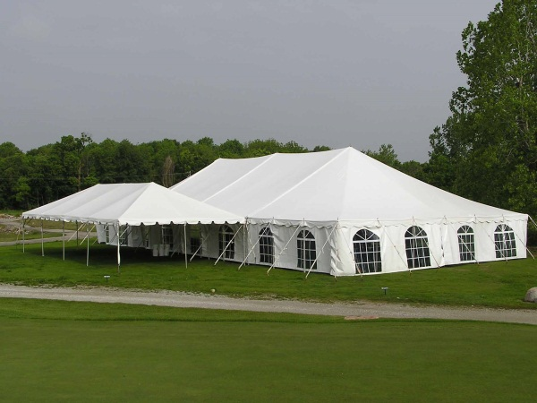 Rent 40 x 80 White Stake and Pole Tent