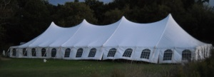 50 x 130 White Stake and Pole Tent Rentals
