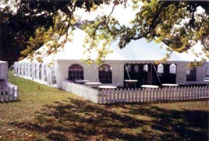 60 x 190 White Stake and Pole Tent Rentals