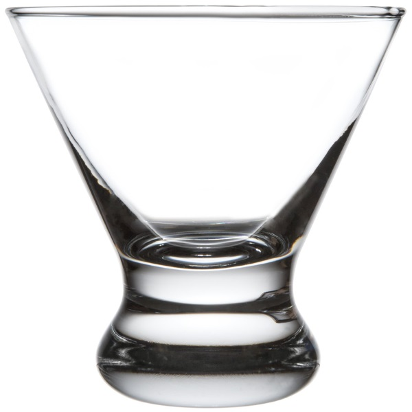8.25 oz. Stemless Cosmo/ Martini Glass