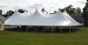 80 x 100 White Stake and Pole Tent Rentals