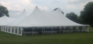 80 x 70 White Stake and Pole Tent Rentals