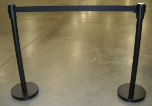 Stanchion Upright w/Black Retractable band Rentals