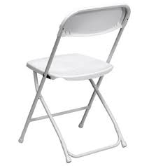 Bright White Folding Chair Rental at Nolan's