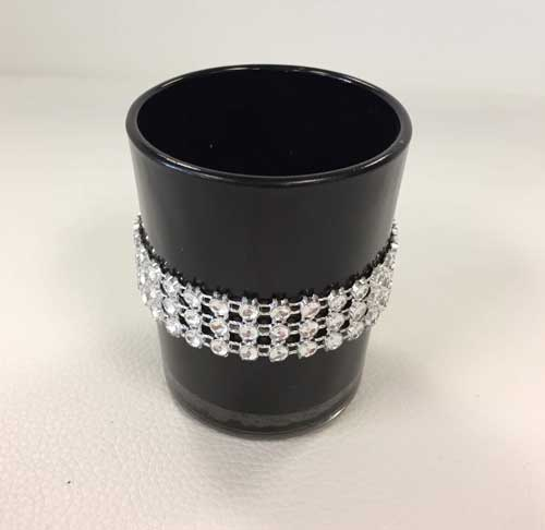 Black Votive Candle Holder Wedding Rental