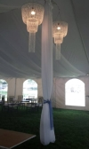 Fabric Center Pole Covers Wedding Rental