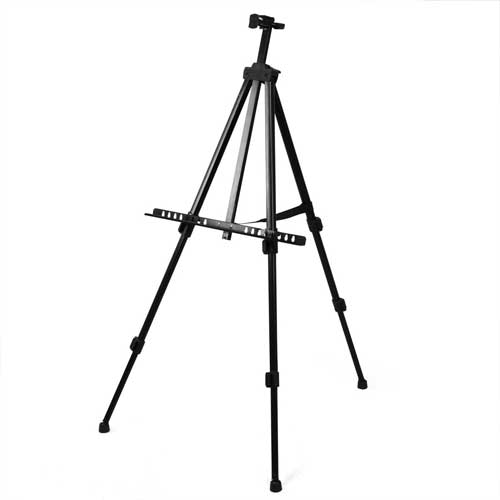 Black Metal Adjustable Easel Rentals