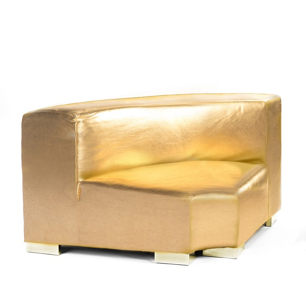 Gold Lounge Round Corner Rental