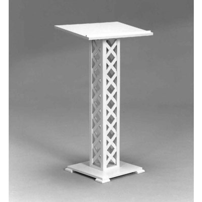 White Lattice Lectern/ Stand Rentals