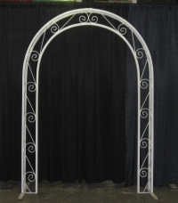White Wrought Iron Archway Wedding Rental