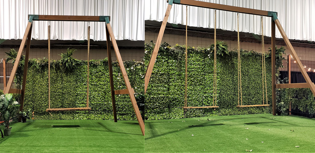 Swing Set Kit Wedding Rental