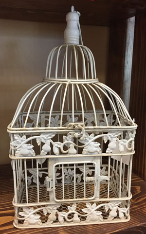 Small Square Bird Cage Wedding Rental