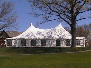 60 x 70 White Stake and Pole Tent Rental