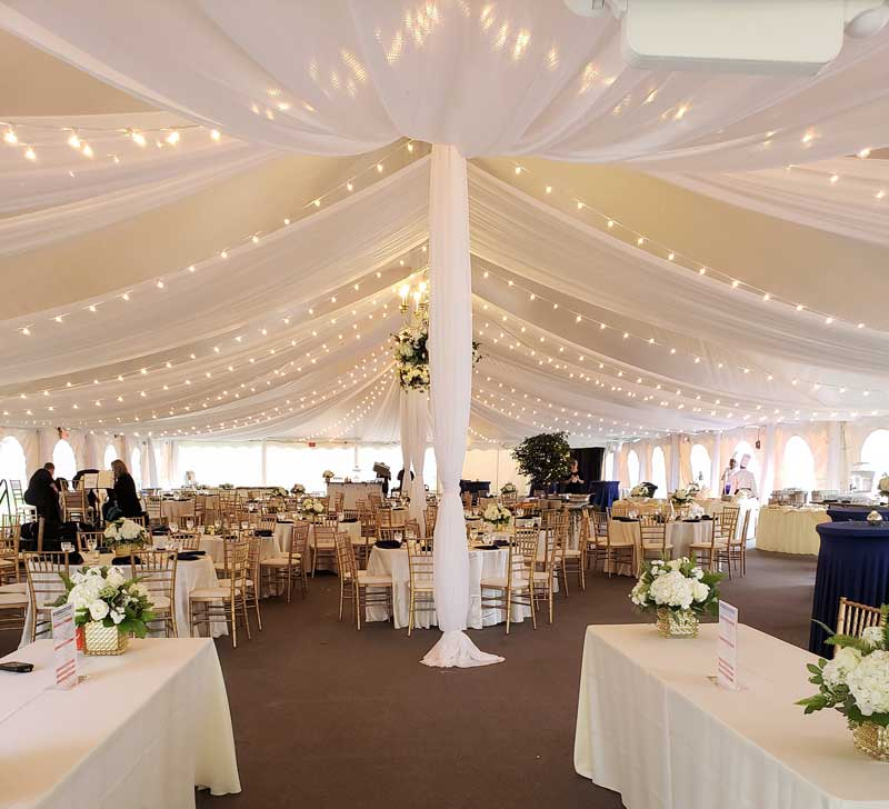 Tent Ceiling Draping & Decorating Rentals