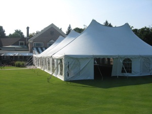 60 x 100 White Stake and Pole Tent Rental