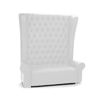 White Lounge Love Seat Wedding Rental